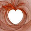 Red abstract heart — Stock Photo