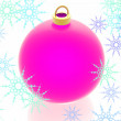 Christmas decoration on the white background — Stock Photo