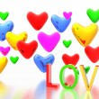 Stock Photo: Color hearts background