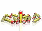 3d batteries — Stock Photo