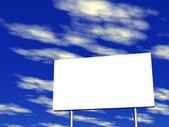 Empty billboard and sky in the background — Foto de Stock
