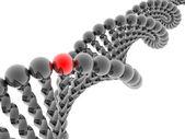 Red gene in DNA — Stock Photo
