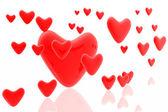 Hjärtan bakgrund — Stockfoto