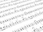 Blad van partituren en partijen — Stockfoto