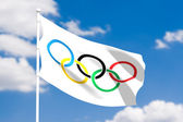 Olympic flag — Stock Photo