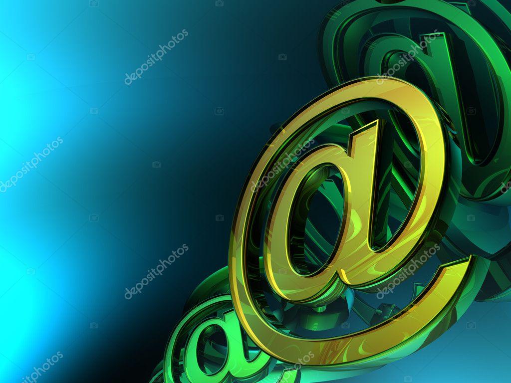 抽象电子邮件符号