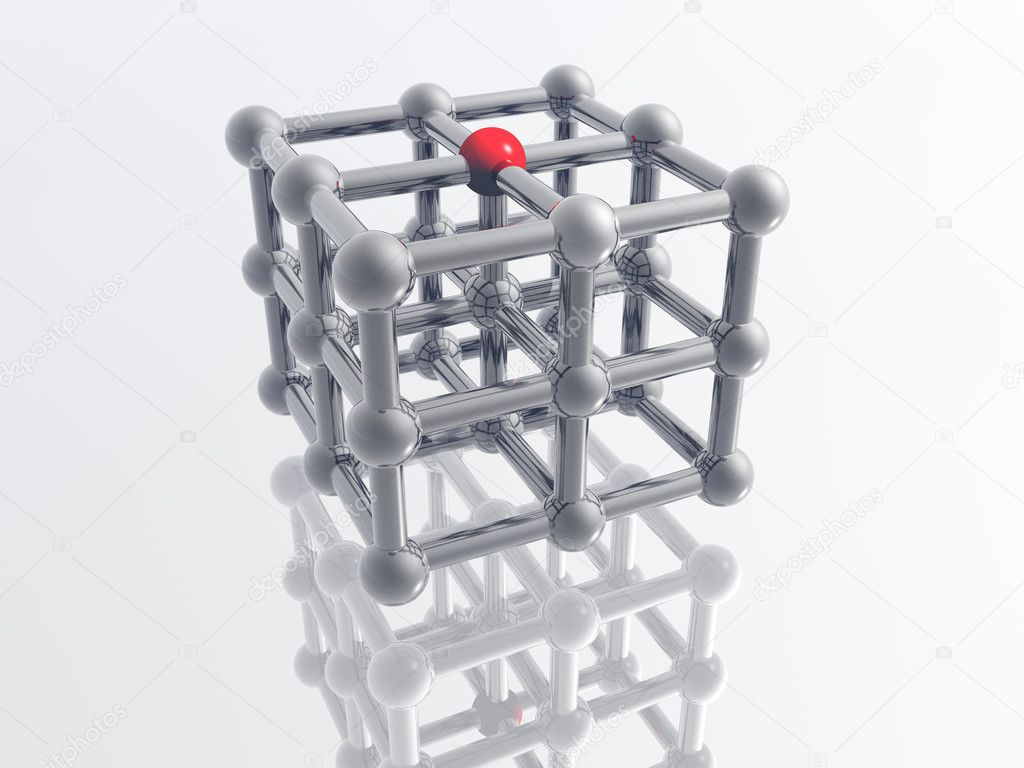 Render of molecule — Stock Photo #9759669
