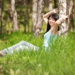 Cute woman in the park — Stock Photo #9864767