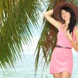 Fashion woman on the beach - Stock Photo