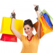 Fashion woman with color packages — Stock Photo