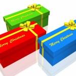 Gift box isolated on the white background — Stock Photo