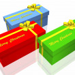 Gift box isolated on the white background — Stock Photo