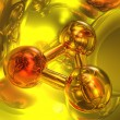 3D molecule — Stock Photo #9867890