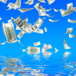 3d money falling — Foto Stock