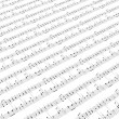 Sheet of printed music - Stock Photo