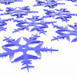 Stock Photo: Snowflakes background