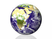 Earth isolated in white background — Stock Photo