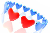 Two loving hearts together — Stock Photo