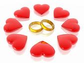 Love & hearts — Stock Photo