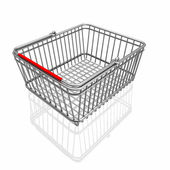 3d basket isolated in white background — Stock Photo