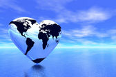 World in which lives love — Stock Photo