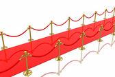 červený koberec — Stock fotografie