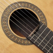 Detail of classic guitar — Stock Photo #9323533