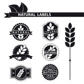Natural labels set — Stockvektor