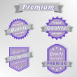 Premium quality purple stamps — Stock Vector