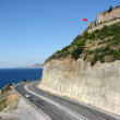 The road along the coast. Turkey, Alanya — Stock Photo