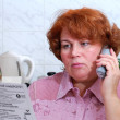 Woman talking on phone — Stock Photo #10239693