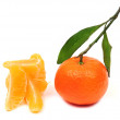 A tangerine and purified. — Stock Photo