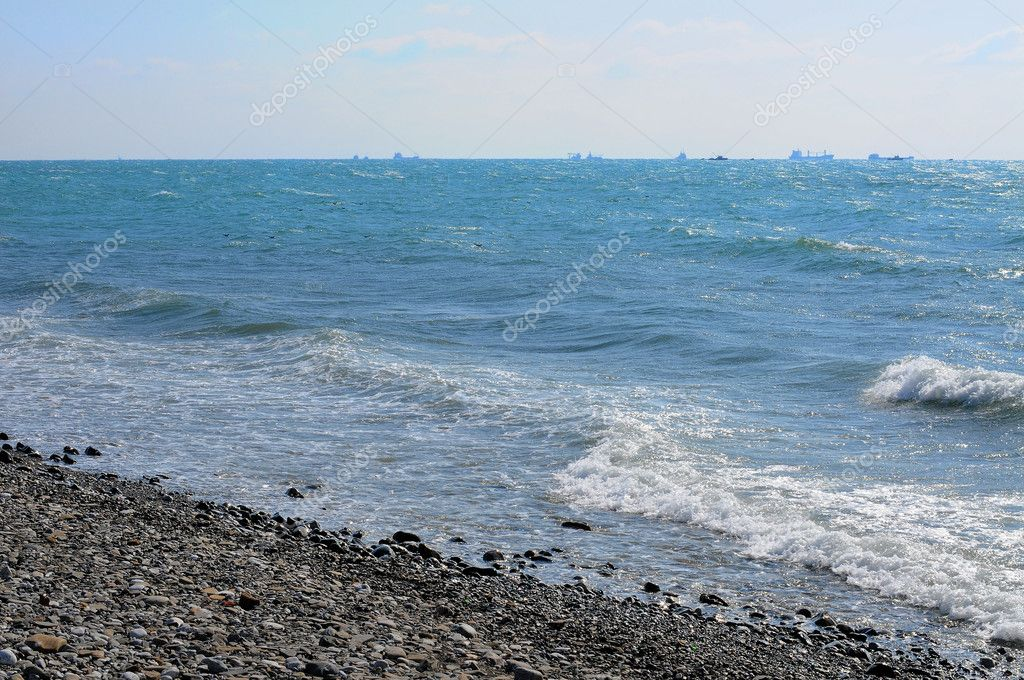 The shore of the Black Sea. — Stock Photo #10673308