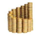 Stacks of coins, the growth chart — Stock Photo