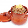Stock Photo: Buckwheat porridge in pot