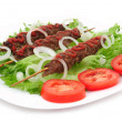 Kebab with vegetables — Stock Photo