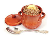 Buckwheat porridge in the pot — Stock Photo