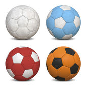 Soccer Balls Collection — Stock Photo