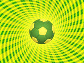Brazil Soccer Ball Background — Stock Photo