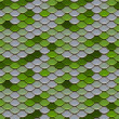 Green and Silver Scales Seamless Pattern — Stock Photo