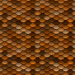 Golden Orange Scales Seamless Pattern - Stock Photo