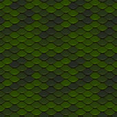 Green Scales Seamless Pattern — 图库照片
