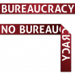 Bureaucracy / No Bureaucracy Red Tape - Stock Photo