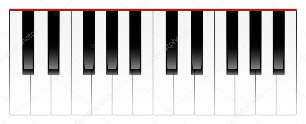 Teclas del piano 2 octavas vector de stock brunoil for Costo del 2 piano