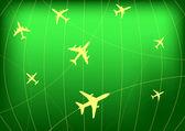 Avião radar de rotas — Vetorial Stock