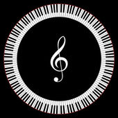 Circle of Piano Keys — Vecteur