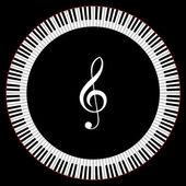 Circle of Piano Keys — Stock Vector