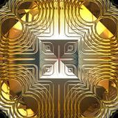 Oro y plata patrones sin fisuras de reflexión — Foto de Stock