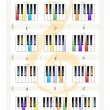 Piano Keys - Major Triad Chords - Imagen vectorial