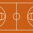 Basketball Court — Stock Vector